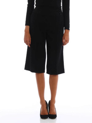 Kenzo: casual trousers online - Crepe cady culottes