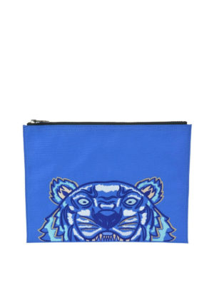 KENZO: pochette - Clutch A4 Tiger in canvas