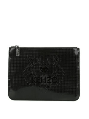 Kenzo: clutches - A4 Tiger drilled clutch