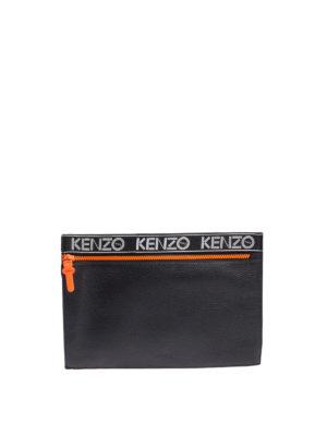 Kenzo: clutches - Kenzo Sport leather clutch