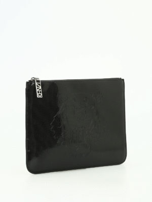 Kenzo: clutches online - A4 Tiger drilled clutch