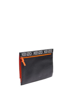Kenzo: clutches online - Kenzo Sport leather clutch
