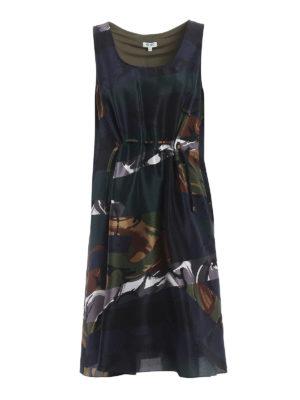 Kenzo: cocktail dresses - Broken Camo silk dress