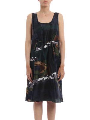Kenzo: cocktail dresses online - Broken Camo silk dress
