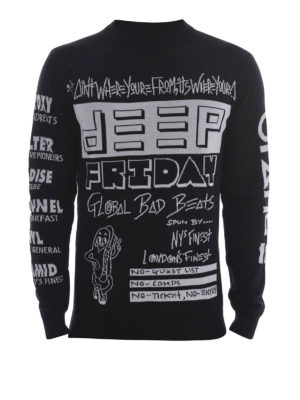 Kenzo: crew necks - Flyers cotton sweater