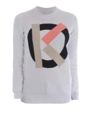 Kenzo: crew necks - K logo cotton sweater