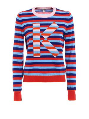 Kenzo: crew necks - K multicolour stripe sweater