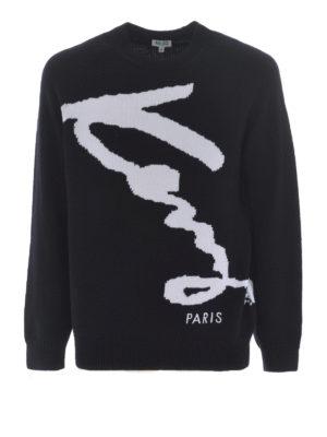 KENZO: maglia collo rotondo - Pullover Kenzo Signature