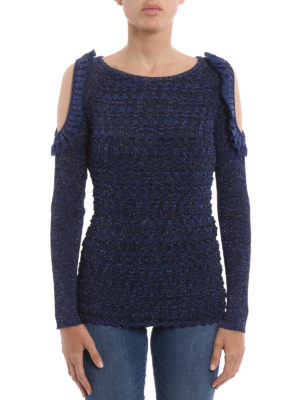 Kenzo: crew necks online - Cut out ruffle detailed sweater