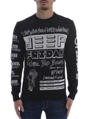 Kenzo: crew necks online - Flyers cotton sweater