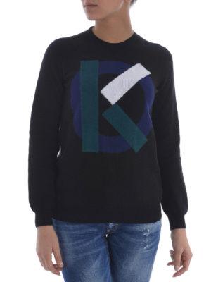 Kenzo: crew necks online - K logo cotton sweater
