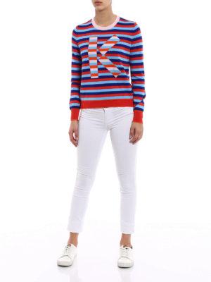 Kenzo: crew necks online - K multicolour stripe sweater