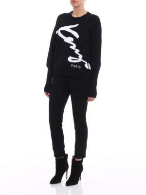 Kenzo: crew necks online - Kenzo Signature intarsia sweater