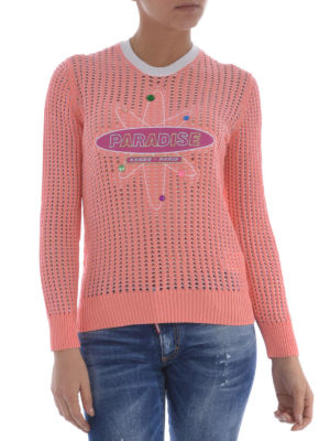 Kenzo: crew necks online - Paradise mesh knitted sweater