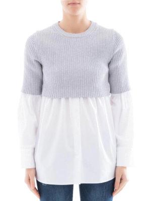 Kenzo: crew necks online - Shirt insert ribbed cotton crewneck