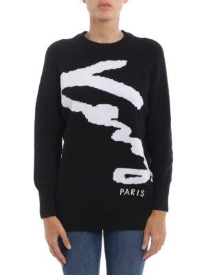 Kenzo: crew necks online - Signature crew neck sweater