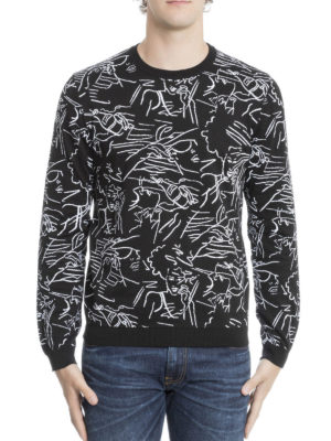 Kenzo: crew necks online - Sketch pattern cotton sweater