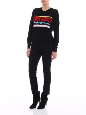 Kenzo: crew necks online - Terrycloth logo cotton sweater