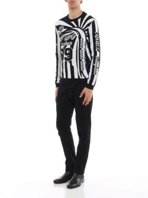 Kenzo: crew necks online - Two-tone jacquard crew neck sweater