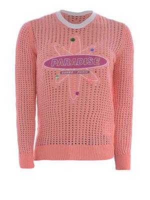 Kenzo: crew necks - Paradise mesh knitted sweater