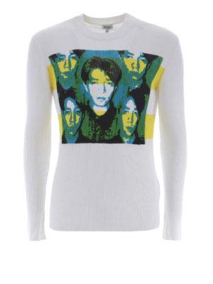 KENZO: maglia collo rotondo - Maglia Ryuichi Sakamoto in cotone