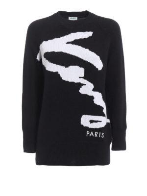 Kenzo: crew necks - Signature crew neck sweater