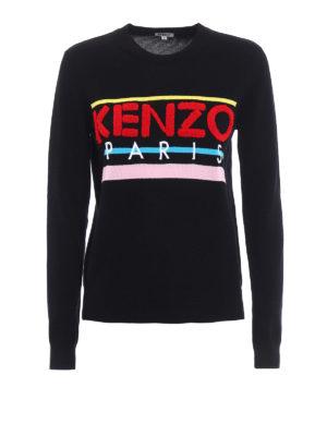 Kenzo: crew necks - Terrycloth logo cotton sweater