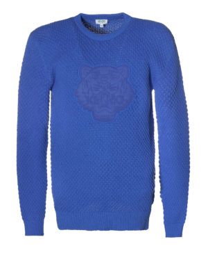 Kenzo: crew necks - Tiger patch comfort cotton sweater