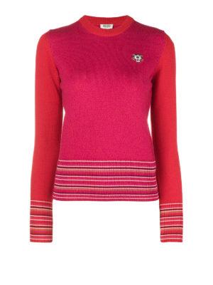 KENZO: maglia collo rotondo - Girocollo Tiger in misto lana e viscosa