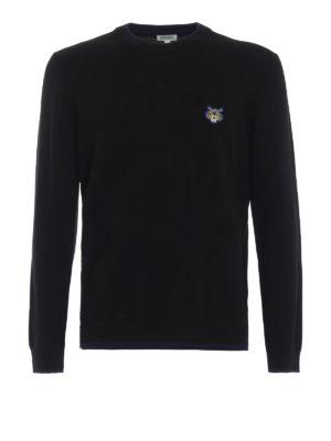 KENZO: maglia collo rotondo - Girocollo in lana con bordi a contrasto