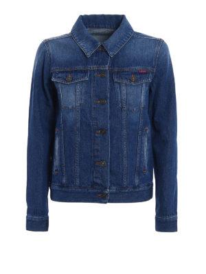 Kenzo: denim jacket - Hyper Kenzo print trucker jacket