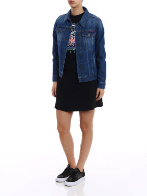 Kenzo: denim jacket online - Hyper Kenzo print trucker jacket