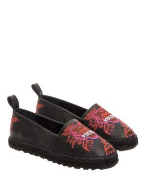 Kenzo: espadrilles online - Geo Tiger leather espadrilles