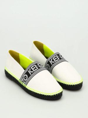 Kenzo: espadrilles online - Logo detailed leather espadrilles