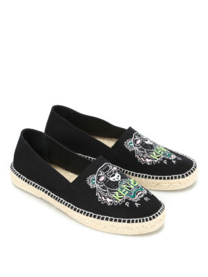 Kenzo: espadrilles online - Tiger embroidery espadrilles