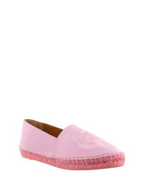 Kenzo: espadrilles online - Tiger pink leather espadrilles