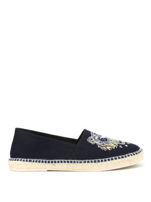 Kenzo: espadrilles - Tiger embroidery espadrilles