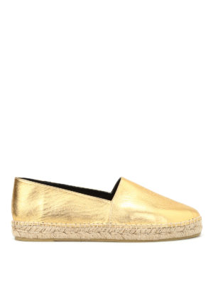 Kenzo: espadrilles - Tiger metallic leather espadrilles