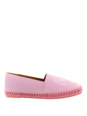 Kenzo: espadrilles - Tiger pink leather espadrilles