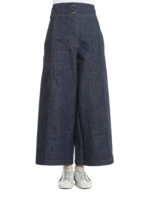 Kenzo: flared jeans online - Denim high waisted culottes