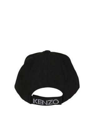 Kenzo: hats & caps online - Tiger black canvas baseball cap