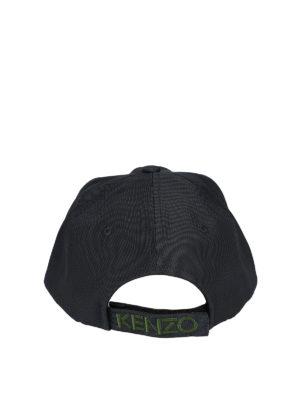 Kenzo: hats & caps online - Tiger grey canvas baseball cap