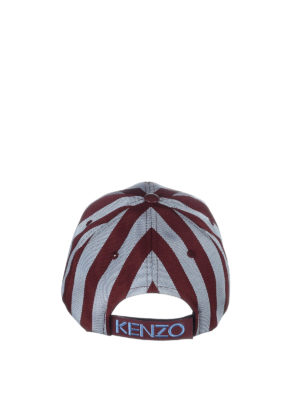 Kenzo: hats & caps online - Tiger striped baseball cap