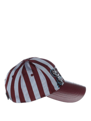 Kenzo: hats & caps - Tiger striped baseball cap