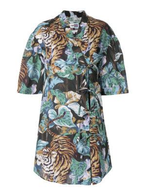 KENZO: abiti al ginocchio - Abito kimono Bamboo Tiger