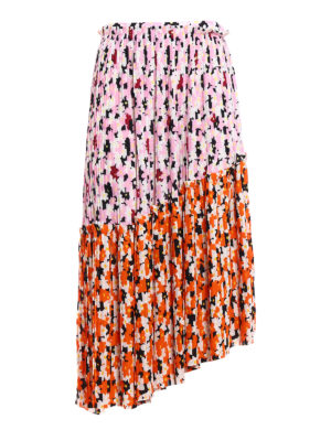 Kenzo: Knee length skirts & Midi - Jackie Flowers asymmetrical skirt