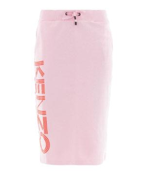 KENZO: gonne al ginocchio  e longuette - Gonna Kenzo in felpa di cotone rosa