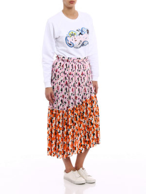Kenzo: Knee length skirts & Midi online - Jackie Flowers asymmetrical skirt