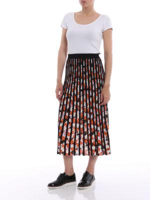 Kenzo: Knee length skirts & Midi online - Jackie Flowers pleated skirt