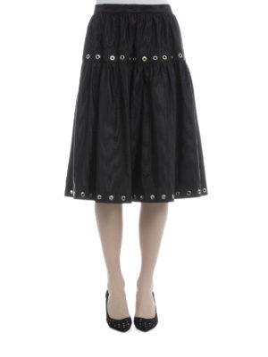 Kenzo: Knee length skirts & Midi online - Taffeta A-line skirt with eyelets